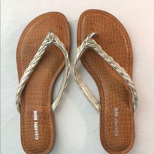 Gianni Bini Flip Flop Sandals in Gold